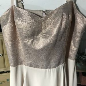 Express Dresses - Worn Once Formal Gold Sparkle Express Dress